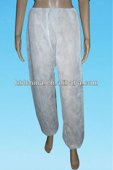 nonwoven disposable trousers for beauty salon