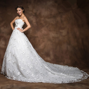 C82374a luxurious crystsals diamonds wedding dress buy for Puffy wedding dresses with diamonds