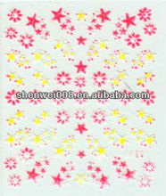 star and heart water transfer nail art stickers