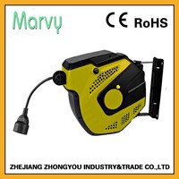 15m 3 wire auto retractable cable storage reel