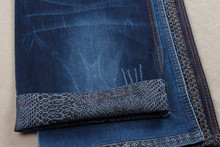X0001A cotton poly spandex denim jeans fabric with snakeskin print backside