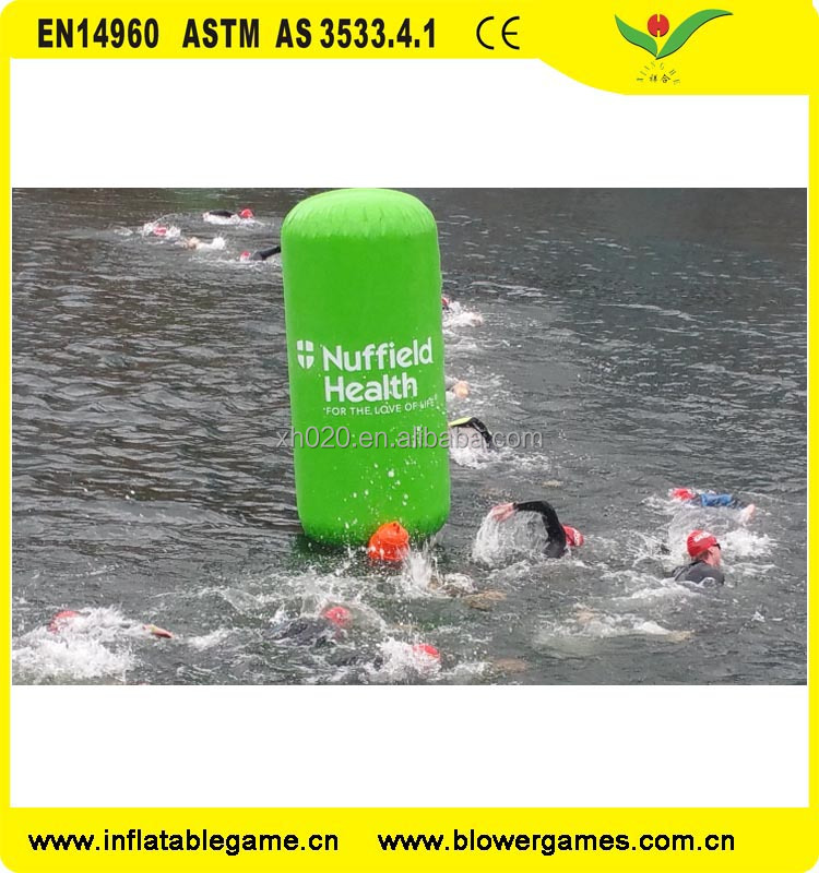 Open Water Race Markers Cylinder floater Inflatable Marker Buoys