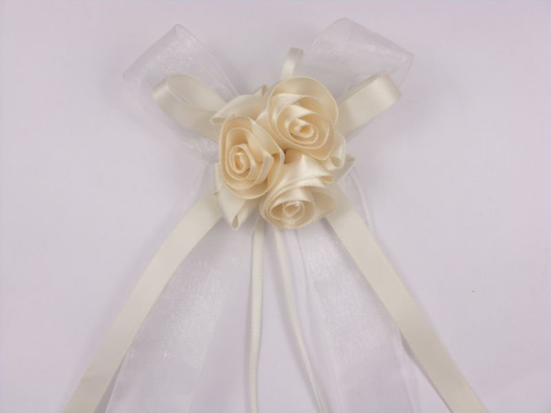 wedding car decoration ribbon bow without roses