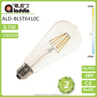 made in china LED Filament bulb ST64 10W 1000LM For Europe