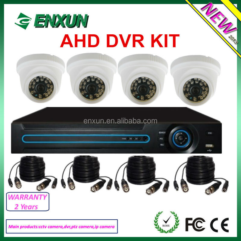 New Arrival! Enxun network standalone combo AHD DVR Kit H.264 P2P 4ch home security dvr system