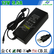 DESKTOP LAPTOP ZH120A-1209500 CCTV 12V9.5A 114W AC/DC Switching Mode Power Supply