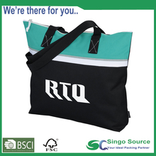 Wholesale Vinyl Cotton Polyester Fabric Beach Tote Bag With custom logo