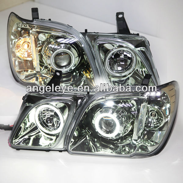 1998-2007 year Lexus LX470 LED Angel Eyes Head Light Chrome Housing