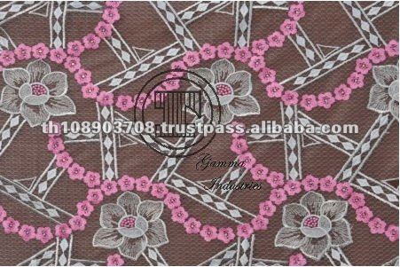 Thailand Fashion Design Embroidered Fabric
