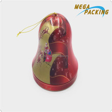 Decorative metal tin christmas gift round ball and bell