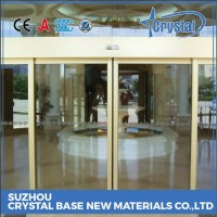 Custom Made OEM Automatic Glass Sliding Door Glass