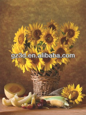 modern abstract flower decorative oil painting 3d printing 3d pictures of beautiful sunflowers