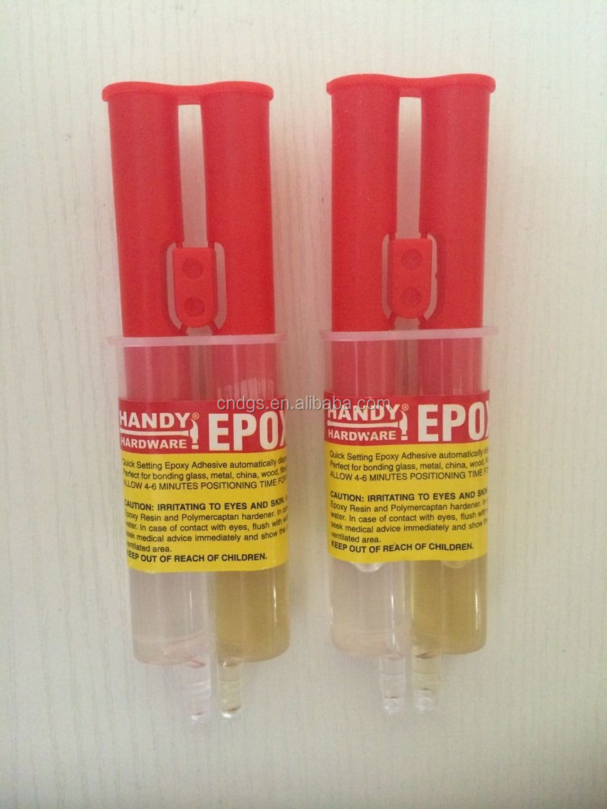 epoxy clear adhesive in syringe by blister packed