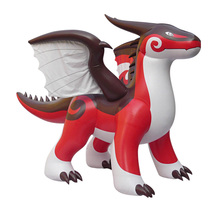 Giant Red pvc inflatable flying dragon cartoon for sale