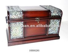 Vintage Handsome Bronze Handle Storage Trunks