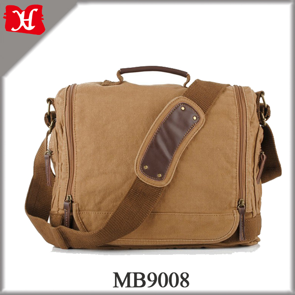 Hot sale korea fashion vintage canvas messenger bag for men