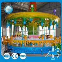 Park merry go round horse ! amusement indoor kids carousel rides