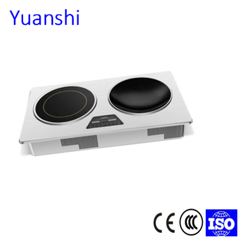 5000W new design two zones electric induction hob smart stove induction cooktop