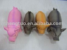 Natural latex pig toy for dog