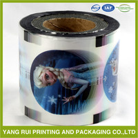 custom order food grade plastic food packaging film roll