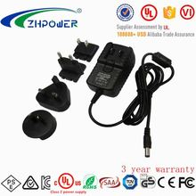 interchangeable universal travel adaptor wall mount 5v 2.4a usb charger with UL/FCC/PSE/CE/RoHS/SAA/KC certification
