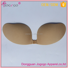 Factory wholesale sexy women deep V shape push up adhesive bra