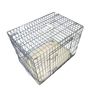 "42"" Deluxe Dog Puppy Pet Cage Carrier Crate In Gold"