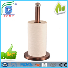 Eco-friendly stainless steel free standing paper holder for office kitchen