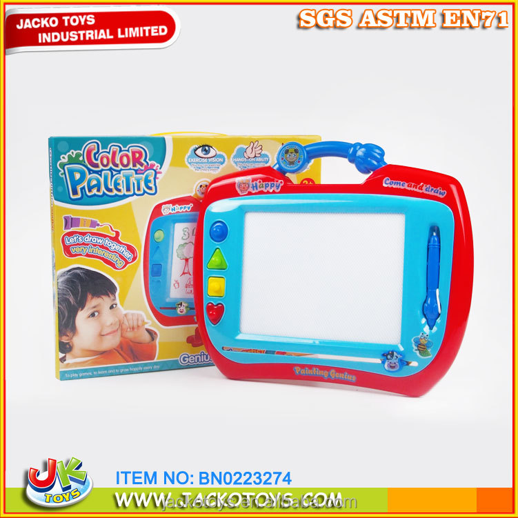 easy to erase cartoon magnetic colorful drawing board with pen