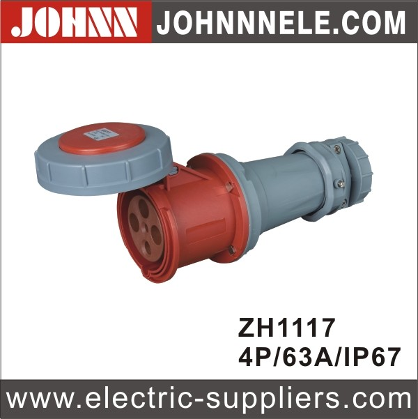 IP44 3P 16A Blue Waterproof Industrial Connector For Mine