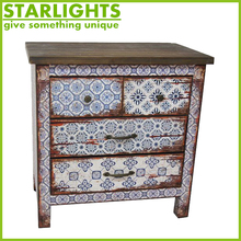 fashionable hot sale shabby chic bathroom cabinet