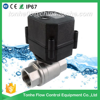 "1/2"" DN15 2-way full port normally closed SS304 220v 240v motorized valve"