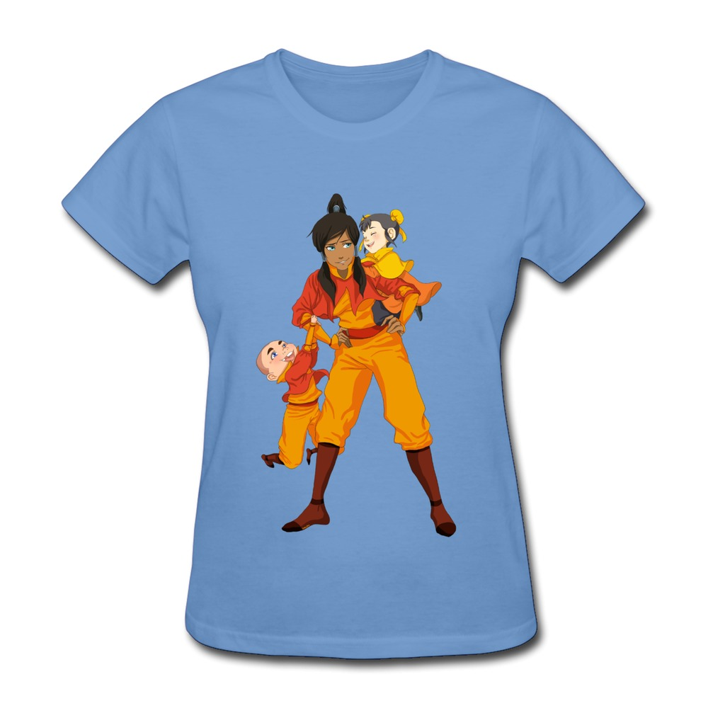 2015 Hot Topic The Legend Of Korra 4 Lady's t-shirt Short Sleeve 100% Cotton 3D T Shirts Free Shipping