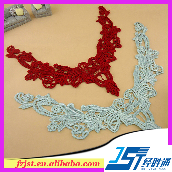 Garment accessories cheap price stock front neck collar lace design