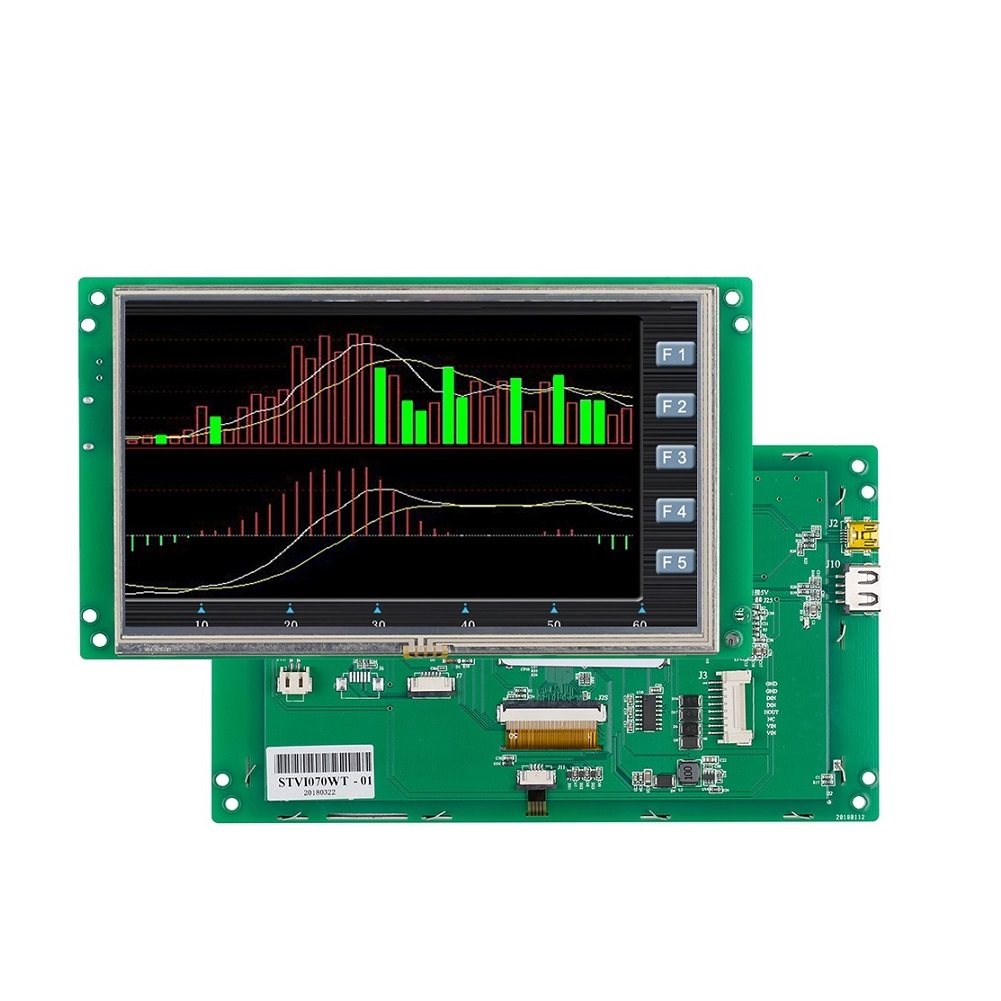 STONE 7 inch TFT Display Module with Controller + Touchscreen + Serial Interface + Software