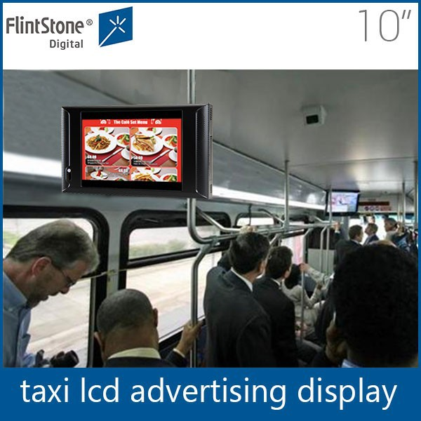 Flintstone 10 inch kingston sd memory card taxi mounted promotion mini lcd video screen