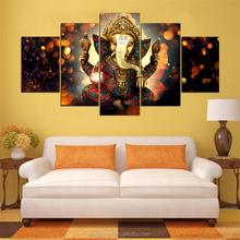 Canvas Painting Wall Art Home Decor For Living Room HD Prints 5 Pieces Elephant Trunk God Modular Poster