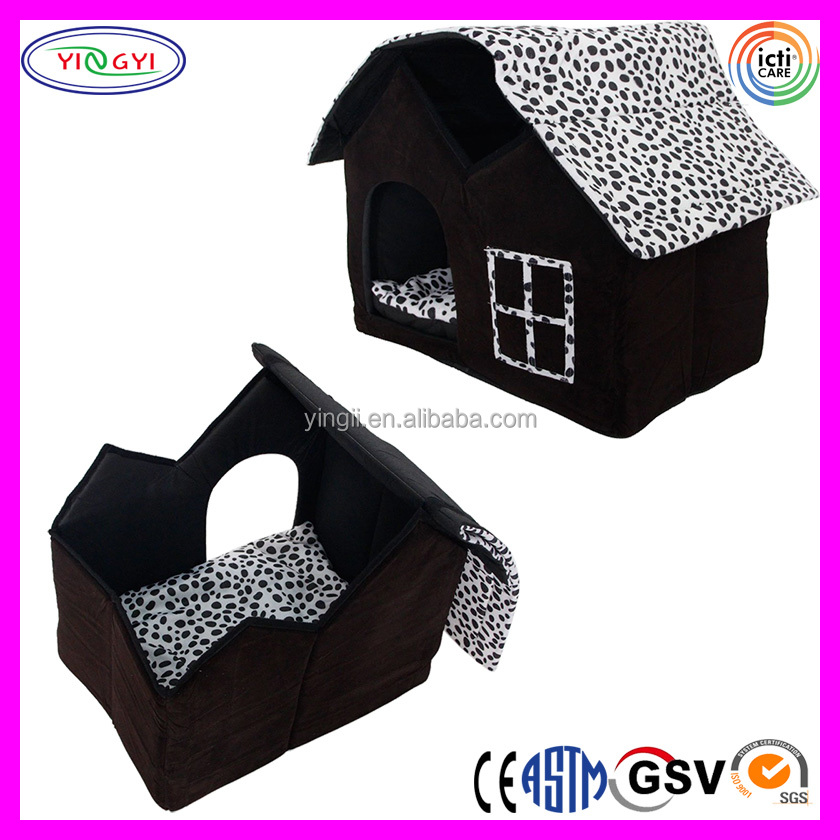B611 Luxury High-end Double Pet House Cage Black Dog Room Cat Bed Pet Squirrel Cages