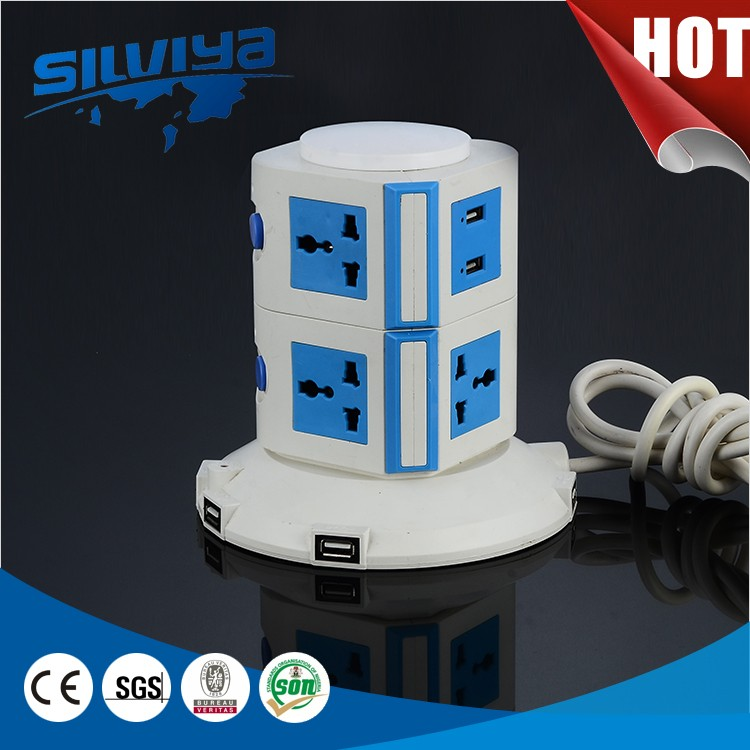 attractive and durable extension tower usb power strip