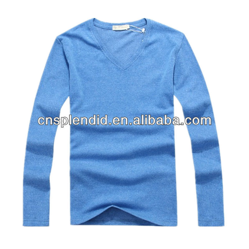 mens fashionable high quality blue hot sale plain tshirt