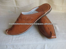 Unique Handmade Genuine Leather Moroccan Slippers For Men