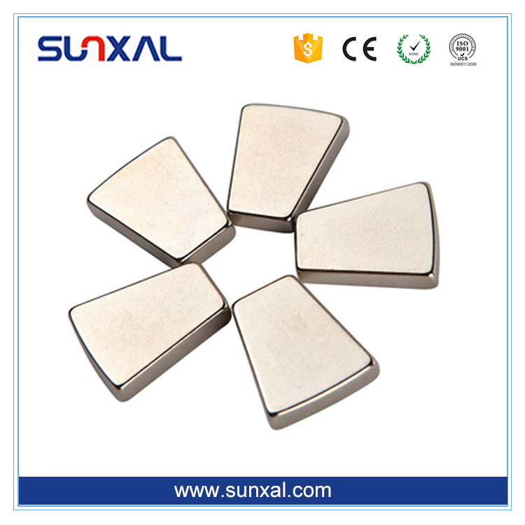 Free Sample High Quality Sintered Rare Earth Flat Curved Triangle N50 Trapezoid Neodymium Magnet N52