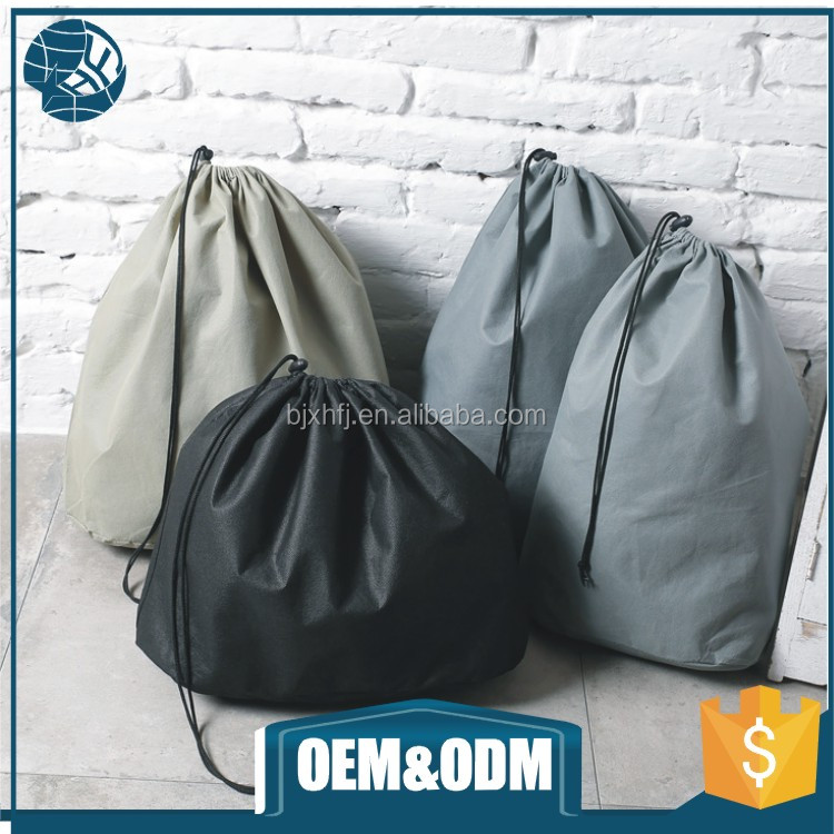 Custom drawstring non woven bag foldable shopping storage packaging small drawstring bag