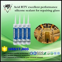 Acid RTV excellent performance silicone sealant for repairing glass