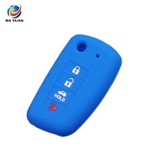 AS072013 Silicone Car Key Cover Case For Nissan 4 Buttons Flip Remote Car Key
