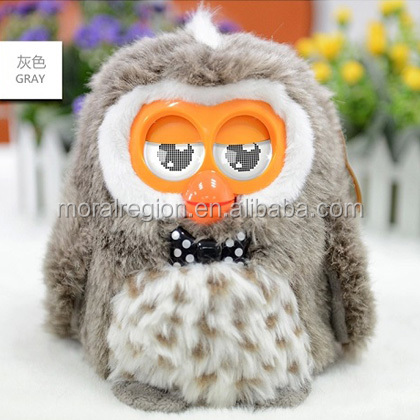 Interactive talking furbying toy with LCD eyes dancing lighting