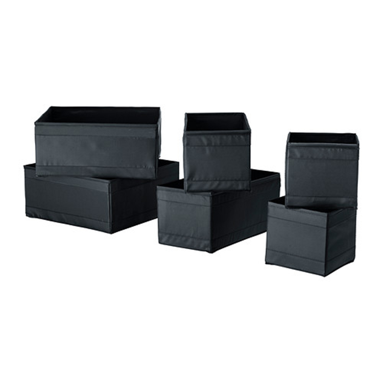 nonwoven fabric material Black color portable shoe storage box
