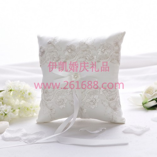 Lace Floral Bow Special Wedding Ceremony Accessory Unique Bridal Ring Bearer Pillow In stock ,acceptable small order