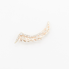 alloy plated rhinestone parts hollow angel wings stud earrings for girl