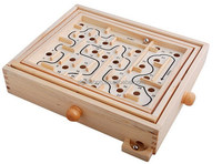 Primary Labyrinth Wooden Toy Maze Board Marble Game Baby Kids Children Intelligence Game